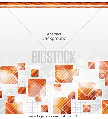 Illustration Abstract Squares Geometric Background for Design - Vector