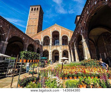 Sant Ambrogio Church In Milan (hdr)