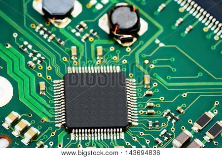Circuit board electronic computer hardware technology, close-up