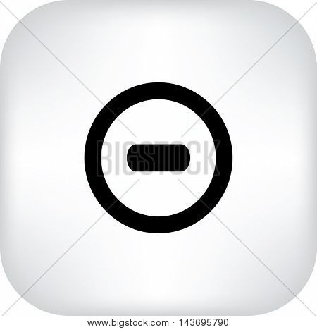 Vector minus web flat icon.