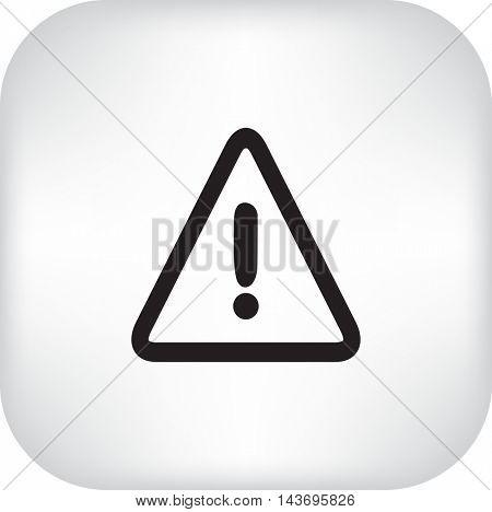 Flat Vector Warning Icon