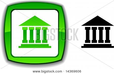 Exchange  realistic button. Vector illustration.