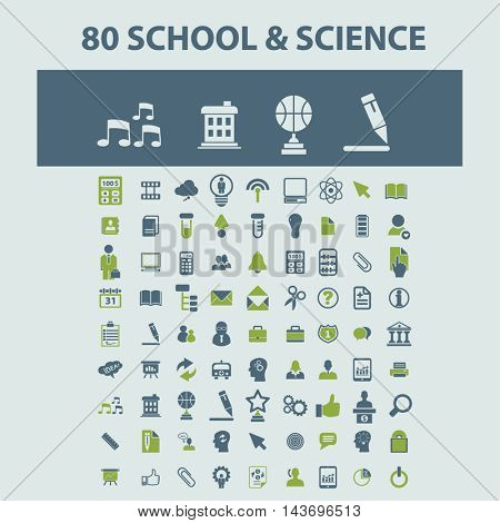 school, science icons