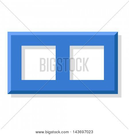 Photo frame vector isolated.