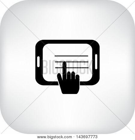 Tablet Illustration. Flat Vector Icon