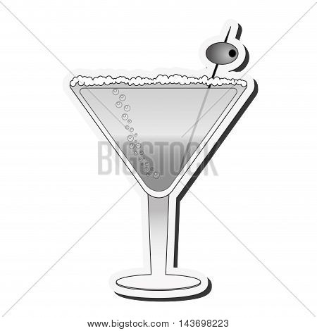 flat design martini cocktail icon vector illustration