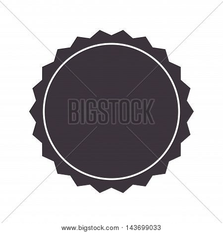 flat design badge stamp seal icon vector illustration
