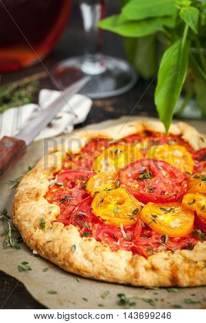 Delicious Homemade Tomatoes Galette
