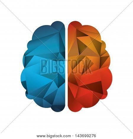 flat design abstract human head icon vector illustration