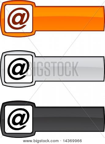 Arroba   web button. Vector illustration.