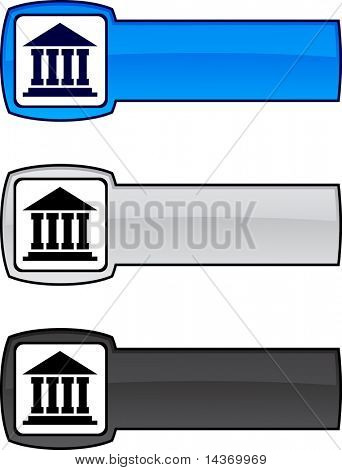 Exchange   web button. Vector illustration.