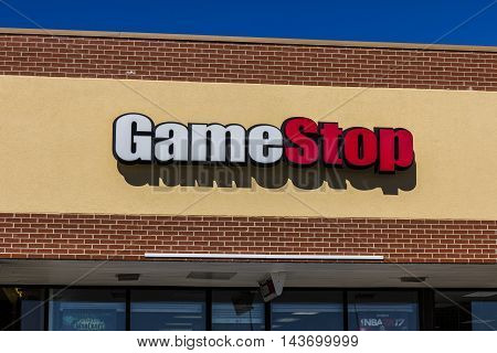 Indianapolis - Circa August 2016: GameStop Retail Mall Location. GameStop is an American video game consumer electronics and wireless services retailer I