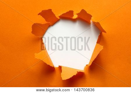 orange torn paper with place for text