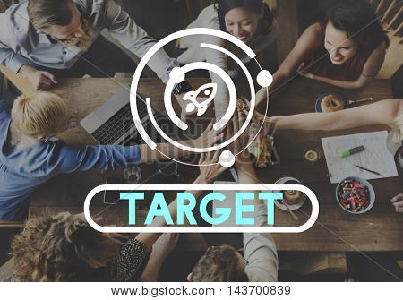 Strategy Successful Target Growth Progress Concept