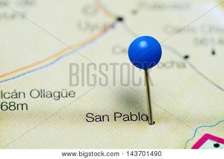 San Pablo pinned on a map of Bolivia