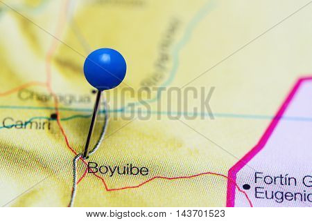 Boyuibe pinned on a map of Bolivia