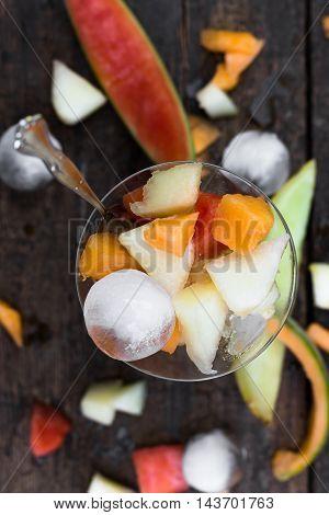 Topview Melon Fruit Salad