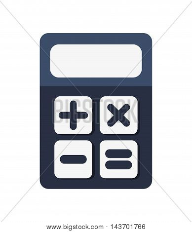 flat design digital calculator icon vector illustration