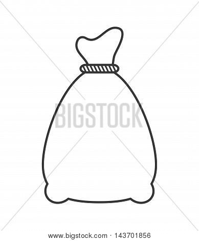 flat design canvas sack icon vector illustration