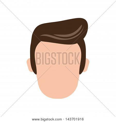 flat design faceless man icon vector illustration