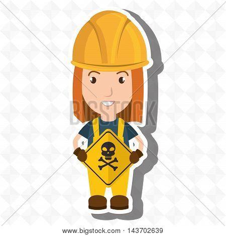 worker symbol danger vector illustration design eps 10