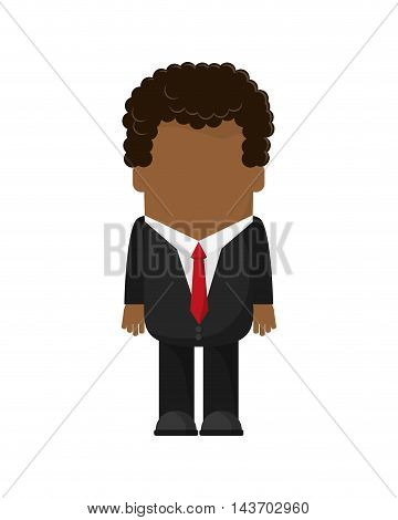 flat design faceless businessman icon vector illustration