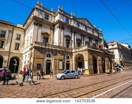 Teatro Alla Scala In Milan (hdr)