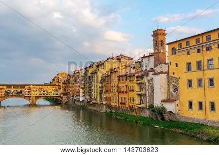 Cityscape With Ponte Vecchio Of Florence