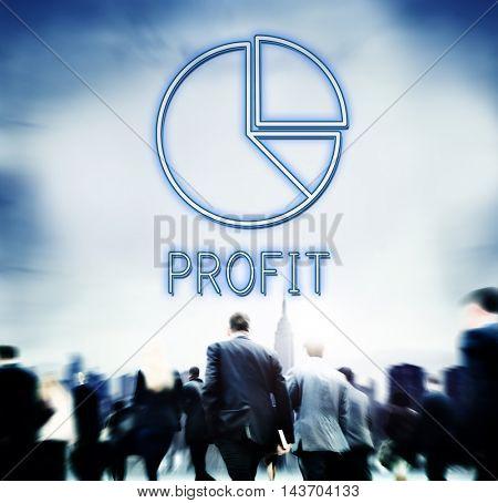 Pie Chart Diagram Graphic Icon Finance Concept