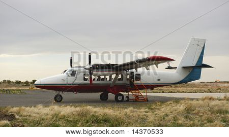Tour Plane On Landing Strip