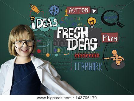 Fresh Ideas Innovation Creative Mission Concept