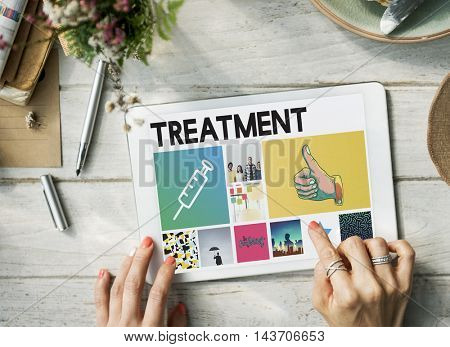 Syringe Injection Medication Healthcare Browsing Concept