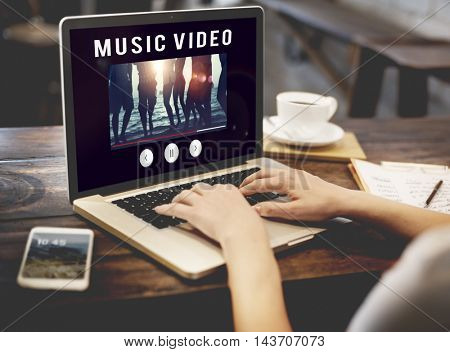 Video Entertainment Browsing Connect Digital Concept