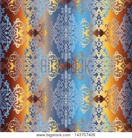 Oriental colorful stylish modern vector seamless pattern with decorative ornament in Eastern style. Luxury and royal illustration. Endless texture.