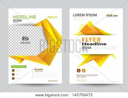 corporate brochure flyer design layout template in A4 size colorful style.vector