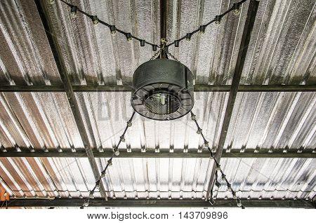 Steel lamp hanging for lighting in door