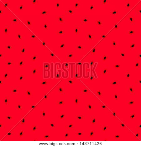Watermelon's flesh	Flashy watermelon's pulp with black seeds seamless background vector pattern