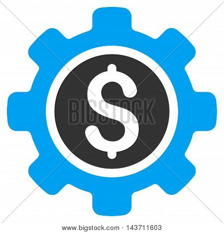 Financial Tools icon. Glyph style is bicolor flat iconic symbol with rounded angles, blue and gray colors, white background.