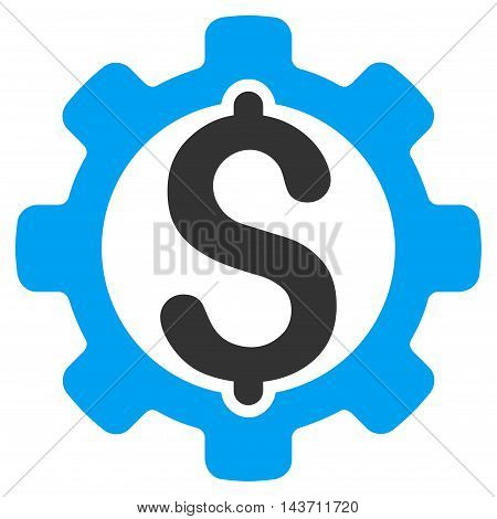 Payment Options icon. Glyph style is bicolor flat iconic symbol with rounded angles, blue and gray colors, white background.