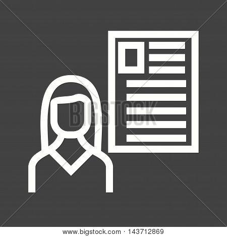 User, female, profile icon vector image.