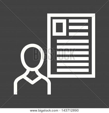 User, male, profile icon vector image.