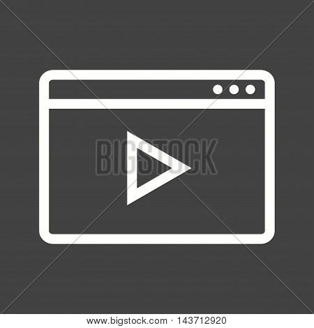Video, player, web icon vector image.