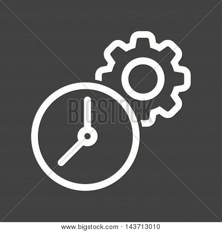 Laptop, setting, time icon vector image. Can also be used for web. Suitable for use on web apps, mobile apps and print media.