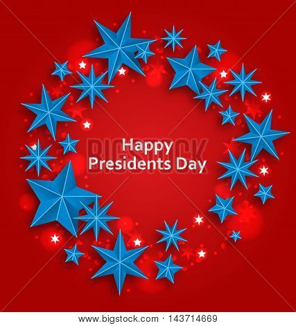 Illustration Stars Background for Happy  Presidents Day - Vector