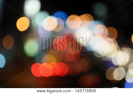 Multicolored Defocused Round Bokeh