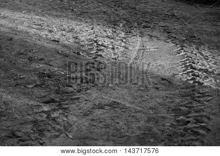 abstract of wheel tracks on ground for background used