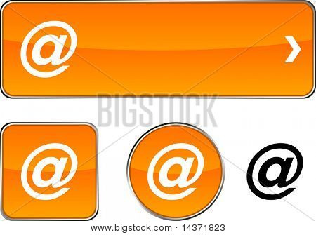 Arroba web buttons. Vector illustration.