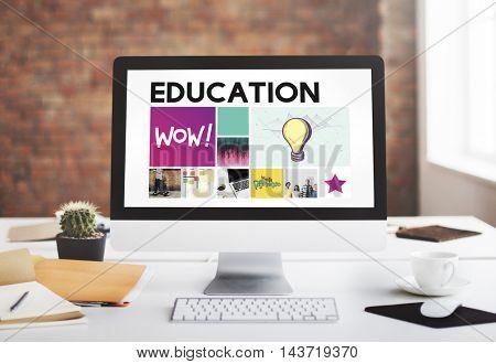 Education LIght Bulb Ideas Knowledge School Concept
