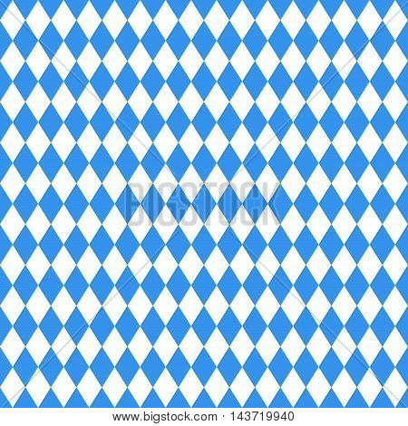 Oktoberfest blue rhombus background. seamless pattern vector illustration