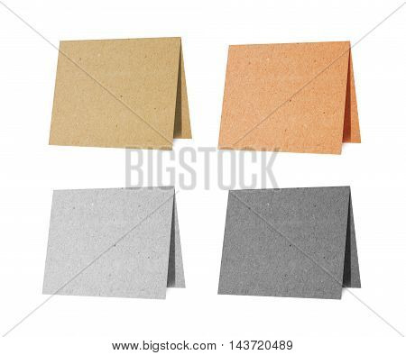 Note pad recycled paper craft on white background